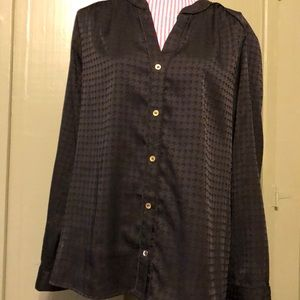 Jones New York button front, long-sleeved blouse.
